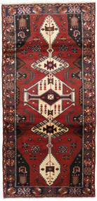 Hamadan Matta 98X205 Äkta Orientalisk Handknuten Mörkröd/Mörkbrun (Ull, Persien/Iran)