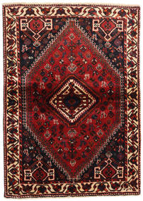 Shiraz Matta 113X160 Äkta Orientalisk Handknuten Mörkröd/Mörkbrun (Ull, Persien/Iran)