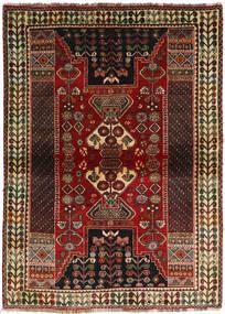 Ghashghai Matta 115X160 Äkta Orientalisk Handknuten Mörkbrun/Mörkröd (Ull, Persien/Iran)
