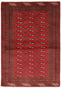 Turkaman Matta 101X147 Äkta Orientalisk Handknuten Mörkröd/Mörkbrun/Röd (Ull, Persien/Iran)