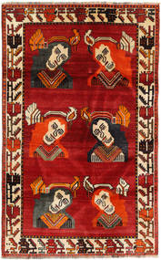 Ghashghai Matta 110X178 Äkta Orientalisk Handknuten Roströd/Mörkbrun (Ull, Persien/Iran)