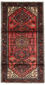 Hamadan Matta 102X188 Äkta Orientalisk Handknuten Mörkröd/Mörkbrun (Ull, Persien/Iran)