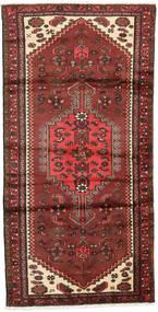 Hamadan Matta 95X187 Äkta Orientalisk Handknuten Mörkröd/Roströd (Ull, Persien/Iran)