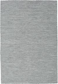Kelim Honey Comb - Mörk Grå Matta 160X230 Äkta Modern Handvävd Ljusblå/Ljusgrå (Ull, Indien)