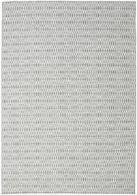 Kelim Long Stitch - Grå Matta 240X340 Äkta Modern Handvävd Ljusgrå/Turkosblå (Ull, Indien)
