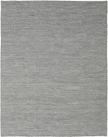 Kelim Honey Comb - Svart/Grå Matta 240X300 Äkta Modern Handvävd Ljusgrå/Turkosblå (Ull, Indien)