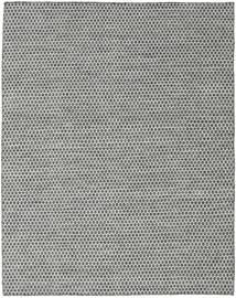 Kelim Honey Comb - Svart/Grå Matta 190X240 Äkta Modern Handvävd Ljusgrå/Mörkgrå (Ull, Indien)