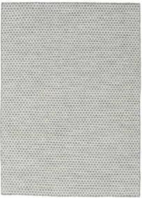 Kelim Honey Comb - Grå Matta 140X200 Äkta Modern Handvävd Ljusgrå/Turkosblå (Ull, Indien)