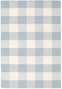 Check Kilim Matta 140X200 Äkta Modern Handvävd Vit/Cremefärgad/Beige/Ljusblå (Ull, Indien)