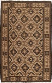 Kelim Matta 157X248 Äkta Orientalisk Handvävd Brun/Mörkbrun (Ull, Persien/Iran)