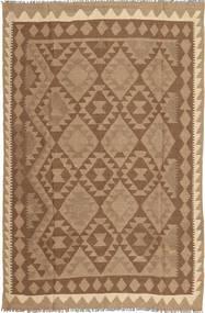 Kelim Matta 158X244 Äkta Orientalisk Handvävd Brun/Ljusbrun (Ull, Persien/Iran)
