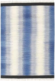 Ikat - Blå Matta 160X230 Äkta Modern Handvävd Blå/Beige (Ull, Indien)