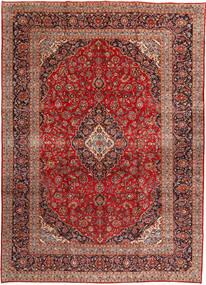 Keshan Matta 292X408 Äkta Orientalisk Handknuten Mörkröd/Roströd Stor (Ull, Persien/Iran)