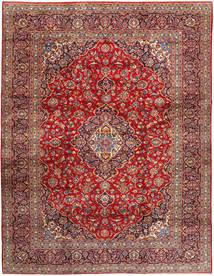 Keshan Matta 292X374 Äkta Orientalisk Handknuten Mörkröd/Mörkbrun Stor (Ull, Persien/Iran)