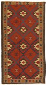 Kelim Maimane Matta 104X196 Äkta Orientalisk Handvävd Röd/Mörkbrun (Ull, Afghanistan)