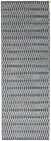 Kelim Long Stitch - Blå Matta 80X240 Äkta Modern Handvävd Hallmatta Ljusgrå/Blå (Ull, Indien)