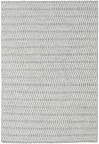 Kelim Long Stitch - Grå Matta 160X230 Äkta Modern Handvävd Ljusgrå/Turkosblå (Ull, Indien)