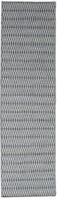 Kelim Long Stitch - Blå Matta 80X290 Äkta Modern Handvävd Hallmatta Ljusgrå/Mörkgrå (Ull, Indien)