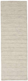 Kelim Long Stitch - Beige Matta 80X240 Äkta Modern Handvävd Hallmatta Mörkbeige/Ljusgrå (Ull, Indien)