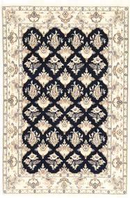 Nain 6La Matta 110X167 Äkta Orientalisk Handknuten Beige/Ljusgrå (Ull/Silke, Persien/Iran)