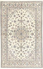 Nain 6La Matta 135X218 Äkta Orientalisk Handknuten Ljusgrå/Beige (Ull/Silke, Persien/Iran)