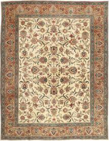 Tabriz Patina Matta 302X390 Äkta Orientalisk Handknuten Brun/Mörkbeige Stor (Ull, Persien/Iran)