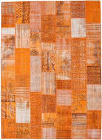 Patchwork Matta 273X374 Äkta Modern Handknuten Orange/Ljusbrun Stor (Ull, Turkiet)