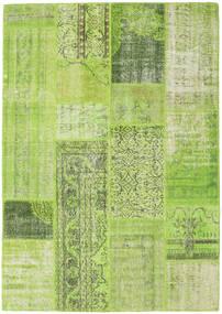 Patchwork Matta 160X228 Äkta Modern Handknuten Ljusgrön/Olivgrön (Ull, Turkiet)