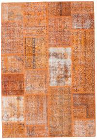 Patchwork Matta 161X232 Äkta Modern Handknuten Ljusbrun/Orange (Ull, Turkiet)