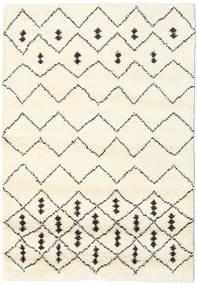 Berber Indisk - Off-Vit/Svart Matta 120X180 Äkta Modern Handknuten Beige/Vit/Cremefärgad (Ull, Indien)