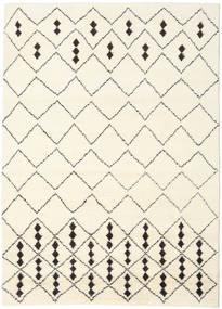 Berber Indisk - Off-Vit/Svart Matta 210X290 Äkta Modern Handknuten Beige/Vit/Cremefärgad (Ull, Indien)