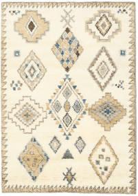 Berber Indisk - Naturvit/Beige Matta 140X200 Äkta Modern Handknuten Beige/Vit/Cremefärgad (Ull, Indien)