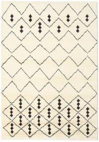 Berber Indisk - Off-Vit/Svart Matta 160X230 Äkta Modern Handknuten Beige/Vit/Cremefärgad (Ull, Indien)