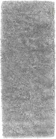 Stick Saggi - Grå Matta 80X200 Äkta Modern Handknuten Hallmatta Mörkbrun/Ljusgrå (Ull, Indien)
