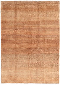 Gabbeh Persisk Matta 144X202 Äkta Modern Handknuten Ljusbrun/Roströd (Ull, Persien/Iran)