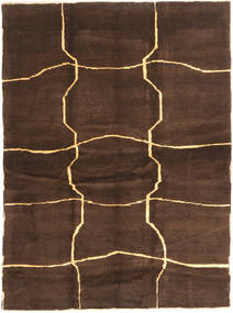 Gabbeh Persisk Matta 153X208 Äkta Modern Handknuten Mörkbrun/Brun (Ull, Persien/Iran)