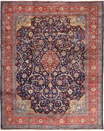 Sarough Matta 310X400 Äkta Orientalisk Handknuten Mörkröd/Ljuslila Stor (Ull, Persien/Iran)
