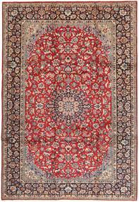 Najafabad Matta 250X360 Äkta Orientalisk Handknuten Mörkröd/Brun Stor (Ull, Persien/Iran)