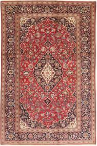Keshan Matta 200X315 Äkta Orientalisk Handknuten Mörkröd/Mörkbrun (Ull, Persien/Iran)