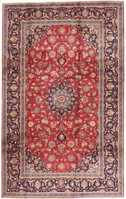 Keshan Matta 195X312 Äkta Orientalisk Handknuten Mörkröd/Roströd (Ull, Persien/Iran)
