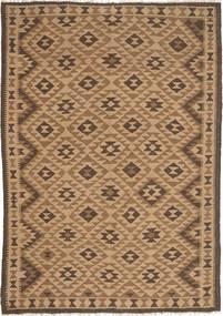 Kelim Maimane Matta 162X232 Äkta Orientalisk Handvävd Brun/Ljusbrun (Ull, Afghanistan)