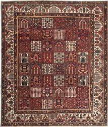 Bakhtiar Patina Matta 278X330 Äkta Orientalisk Handknuten Mörkröd/Brun Stor (Ull, Persien/Iran)