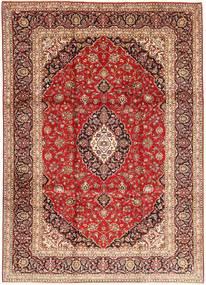Keshan Matta 245X335 Äkta Orientalisk Handknuten Mörkröd/Mörkbrun (Ull, Persien/Iran)