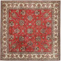 Tabriz Patina Matta 290X292 Äkta Orientalisk Handknuten Kvadratisk Mörkbrun/Roströd Stor (Ull, Persien/Iran)