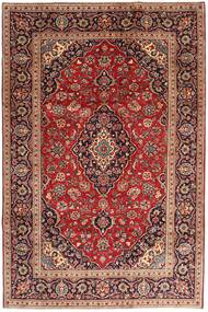 Keshan Matta 200X295 Äkta Orientalisk Handknuten Mörkröd/Brun (Ull, Persien/Iran)