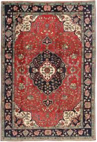 Tabriz Matta 198X303 Äkta Orientalisk Handknuten Mörkröd/Mörkbrun (Ull, Persien/Iran)