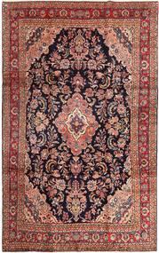 Hamadan Shahrbaf Matta 220X345 Äkta Orientalisk Handknuten Mörkröd/Ljusbrun (Ull, Persien/Iran)