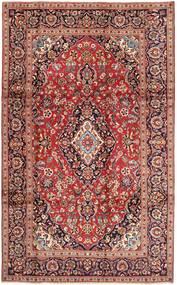 Keshan Matta 195X325 Äkta Orientalisk Handknuten Mörkröd/Ljusbrun (Ull, Persien/Iran)