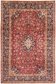 Keshan Matta 198X303 Äkta Orientalisk Handknuten Mörkröd/Ljusbrun (Ull, Persien/Iran)
