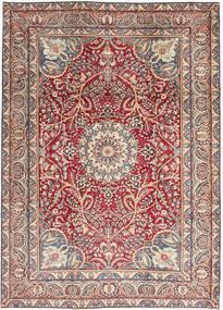 Kerman Patina Matta 248X344 Äkta Orientalisk Handknuten Beige/Ljusgrå (Ull, Persien/Iran)